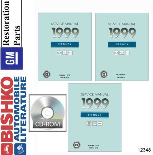1999 Chevrolet S//T Truck Shop Service Repair Manual CD Engine OEM