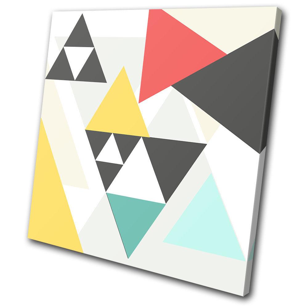 Abstract Geometric Triangles SINGLE TOILE murale ART Photo Print
