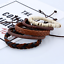 Fashion-Men-Women-Handmade-Genuine-Leather-Bracelet-Braided-Bangle-Wristband-Set miniatura 14