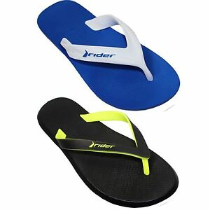 3918ccf17ca4d8 Image is loading Mens-Comfortable-Dual-Sized-Basic-Thong-Sandals-Beach-