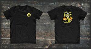 Karate-Kid-Cobra-Kai-Dojo-inspired-t-shirt-large-back-logo-Strike-First-No-Mercy