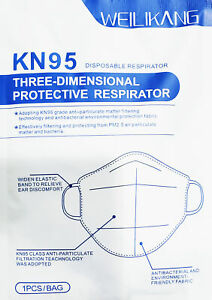 House Brand 907113 KN95 Protective Respirator Face Masks FDA Approved 5/Pk