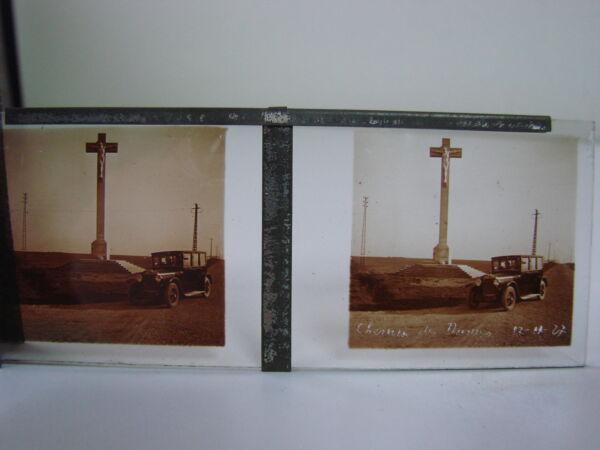 Ancienne Plaque Photo Verre X 12 Verdun 1927 Monuments Du Souvenir / StÉrÉoscope