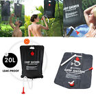 Portable Solar Energy Heated Camp Shower Pipe Bag Outdoor Camping Hiking 20L
