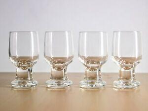 4 X Rare Iitala Joiku Cordial Glasses Finland Tapio Wirkkala Scandinavian Ebay