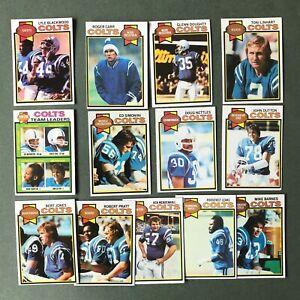 Lot 13 cartes NFL Baltimore Colts 1979 TOPPS Football Américain