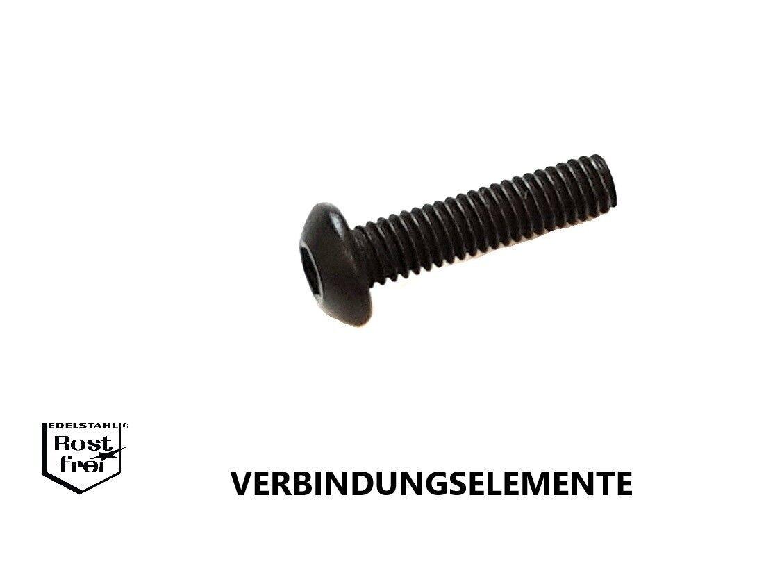 In acciaio inox nero Viti a testa ISO 7380 ACCIAIO INOX a2 NERO m2-m10