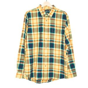 Sportscraft-Tapered-Fit-Mens-Long-Sleeve-Yellow-Check-Shirt-Size-Large-NWT