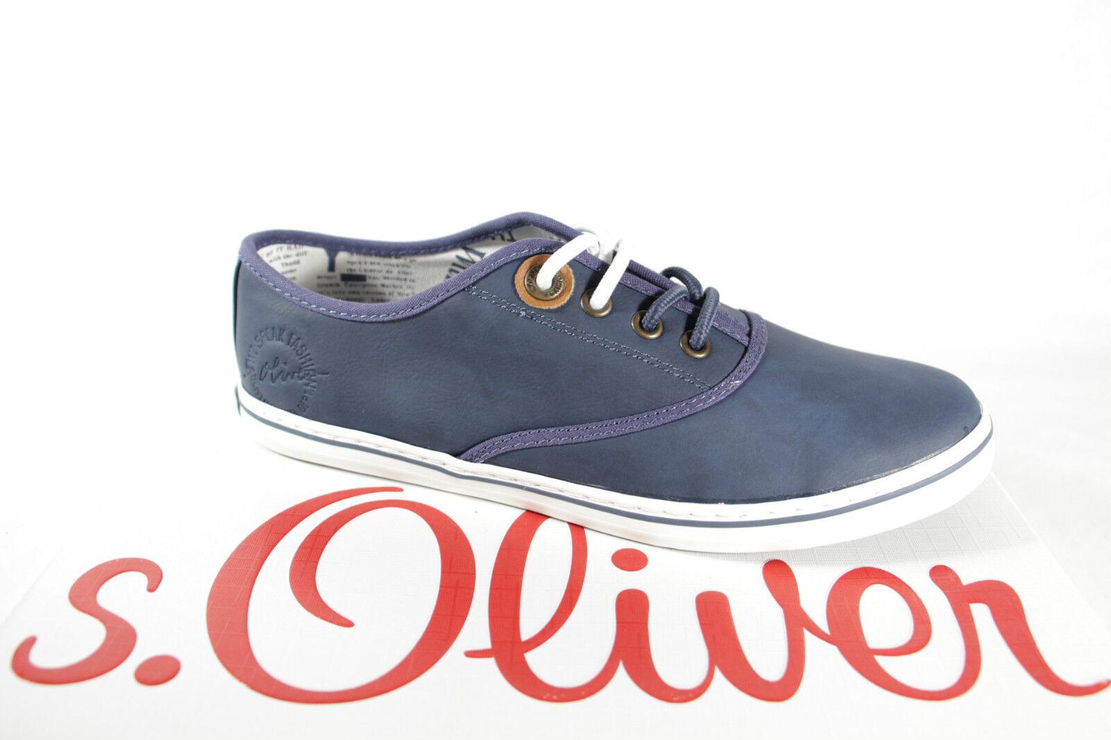 S.Oliver   con lacci da Donna ginnastica scarpe da ginnastica blu, suola in gomma
