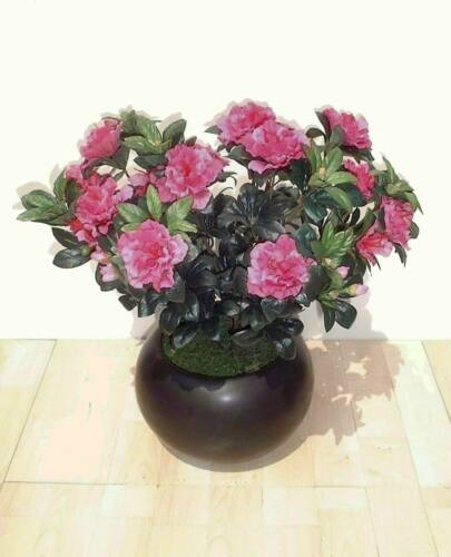 "- Artificial Silk Flowers Azalea Bush 16/"" Imitation Replica Faux Plant 41cm"