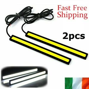 LED-Strip-Daytime-Running-Lights-Fog-DRL-COB-Car-Lamp-White-Day-Driving-12V-2pcs