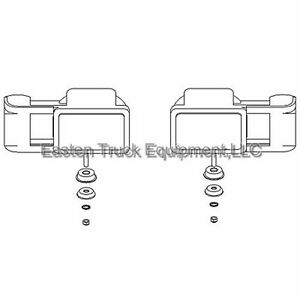 boss snowplow rt3 plastic headlight set square 13 pin v or. Black Bedroom Furniture Sets. Home Design Ideas