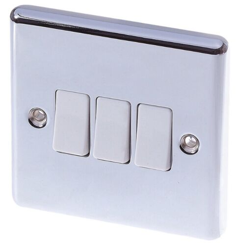 Polished Chromes Sockets Light Switches Fused Connetion Cooker Switch