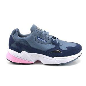 En detalle Esquivar caliente  Adidas Falcon Womens Retro Sneaker Multi Color Blue Grey Pink | eBay