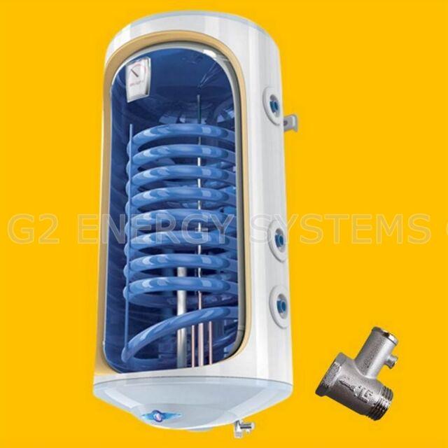 100 Liter L Warmwasserspeicher Boiler Solarspeicher mit 1 Wärmetauscher 2,0 kW