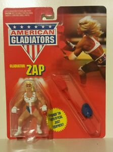 Vintage-American-Gladiators-Zap-Action-Figure-1991-MOC-MATTEL