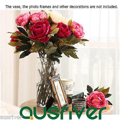 1-4pcs 4 Colours Artficial Fake Peony Living Room Home Wedding Party Decor Gift