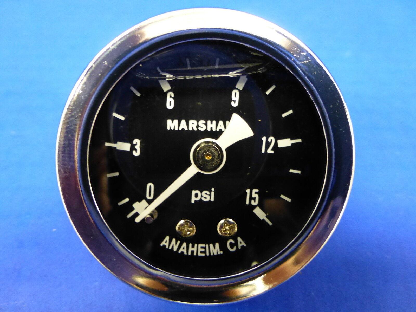 "Marshall Fuel Pressure Gauge ET00015; 0 to 15 psi 1-1//2/"" Full Sweep Mechanical"