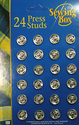 Press Studs / Snap fasteners 10mm Wide (24)