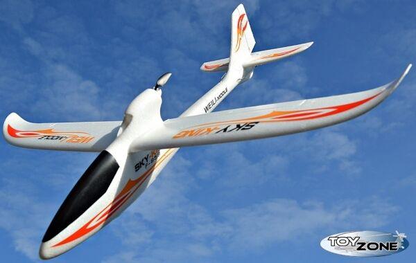 RC Segelflugzeug Ferngesteuertes Flugzeug Sky King 3CH 2,4 GHZ Lipo Flieger RTF