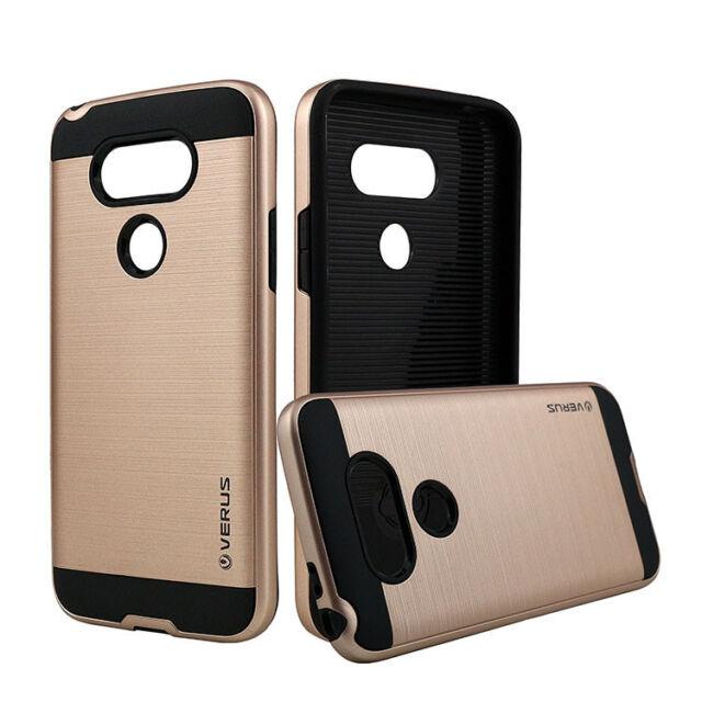 New Shockproof Rugged Brushed Hard Hybrid Silicone Impact Armor Phone Case Cover