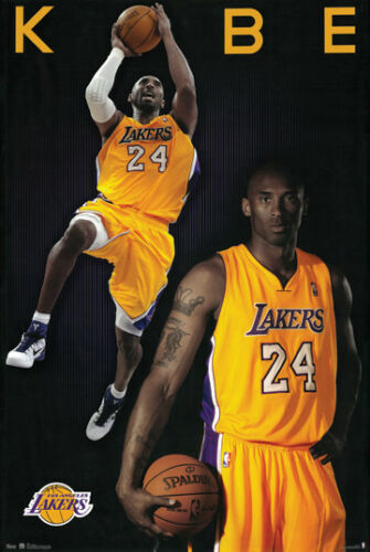 KOBE BRYANT LOS ANGELES LAKERS NATIONAL BASKETBALL ASSOC NBA POSTER-LARGE 24x36