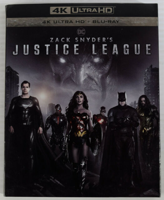 DC Zack Snyder's JUSTICE LEAGUE (4K ULTRA HD + Blu-Ray + Slipcover, 2021) NEW