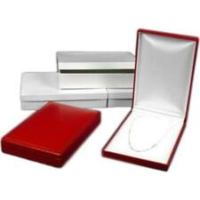3 Necklace Boxes Red Leather Jewelry Case Gift Display 7 38