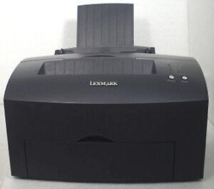 Lexmark-E323-s-w-Laserdrucker-Drucker-USB-2-0-amp-LPT-schwarz-mit-Kabel-ohne-Toner