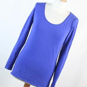Atmosphere-Womens-Size-12-Blue-Plain-Basic-Tee