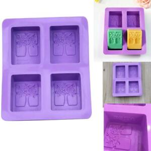 4-cavity-Rectangle-Tree-Soap-Mold-Cake-Mold-Silicone-Resin-Mould-Chocolate-DIY
