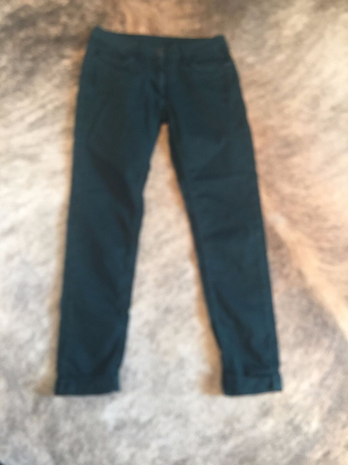 Pre-owned SANDRO Green Relaxed Fit Rolled Cuff Dark Green Jeans SZ FR 38
