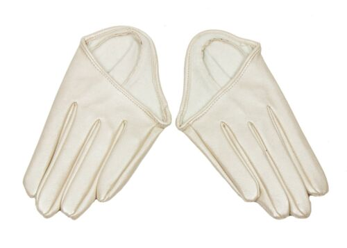 Ivory Half Palm Gloves Racing Fashion Accessory
