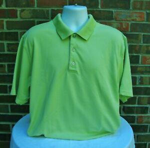 Pro-Tour-Mens-Lt-Green-Performance-Polo-Shirt-Golf-Shirt-Short-Sleeve-Size-2XL