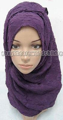 New Style Beautiful Crinkle Muslim Long Scarf Hijab Islamic Shawls (165cm*60cm)
