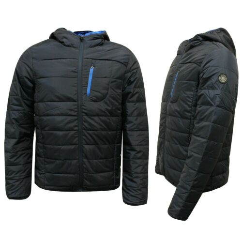 Diadora Homme à Capuche Léger Veste d/'hiver bleu marine manteau 102.171089 60063 X5A