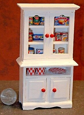 Dollhouse Miniature Kitchen Cabinet food dishes A 1:12 Scale K30 Dollys Gallery