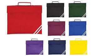 78e4c8bec0bb quadra classic book bag - 8 great colours - school bag briefcase