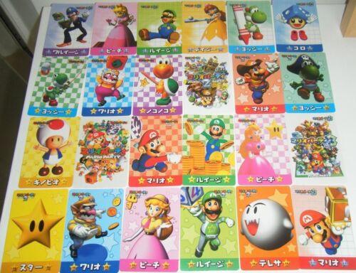Super Mario Party 1 2 3 Bandai Japan 24 Cards Carddass Full set