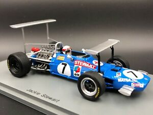 Spark-1-43-Jackie-Stewart-Matra-MS10-South-African-GP-F1-1969-S7183-new-resin