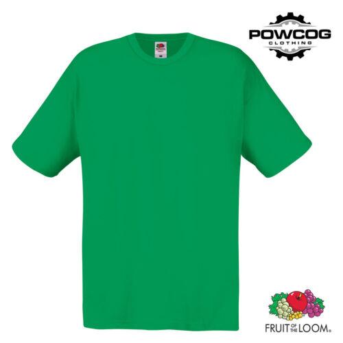 5 PACK • MENS GENUINE FRUIT OF THE LOOM T-SHIRT 100/% Plain Cotton Tee Shirt Top