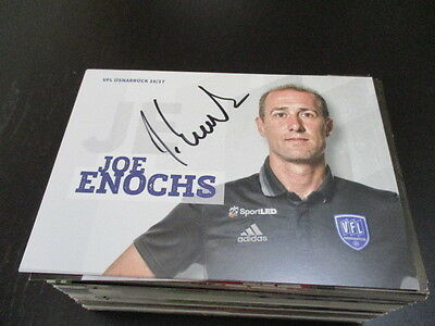 69295 Joe Enochs VFL Osnabrück 16-17 original signierte Autogrammkarte