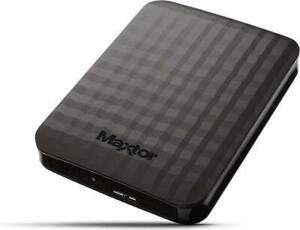 Seagate (Maxtor) M3 Portable 4TB, USB 3.0 externe Festplatte HDD, Schwarz