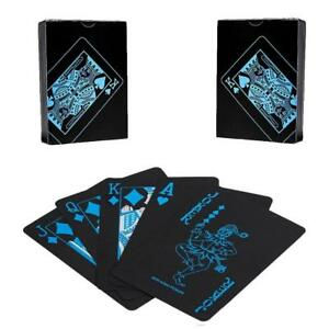 Black-Plastic-PVC-Poker-Waterproof-Magic-Playing-Cards-Table-Game-High-Quality