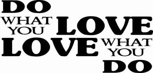 Motivational and inspirational Vinyl Wall Art Decal Do What You Love 11 x 20