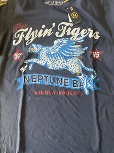 NWT-Nautica-100-Cotton-Graphic-T-Shirt-Flying-Tiger-Size-Large-Mens