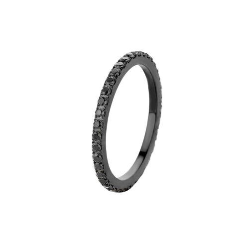 MelanO Vorsteckring Beisteck Ring schwarz Sadé Größe 50 FR17BLBL schwarz schmal