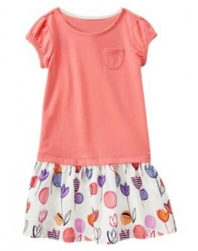 NWT Gymboree Everyday Favorites Tee Skirt Dress Size 7 8 10 Flower Print