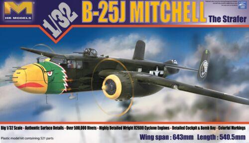 """HK MODELS B-25J MITCHELL /""""STRAFER/"""" 1:32 01E02"""