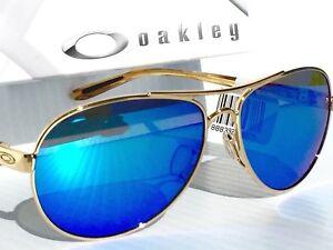 63eef6852a Image is loading NEW-Oakley-FEEDBACK-Gold-AVIATOR-POLARIZED-Sapphire-Women-